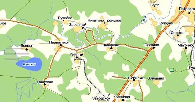 Карта расположения.